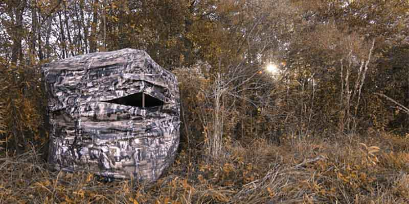 Primo Double Bull Deluxe Ground Blind800*400
