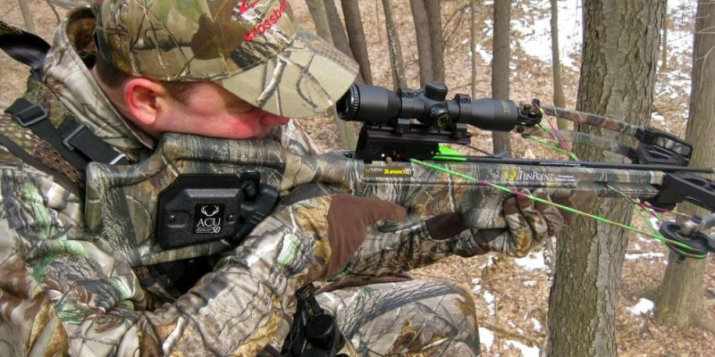 Crossbow Hunting Beginner stalking through woods
